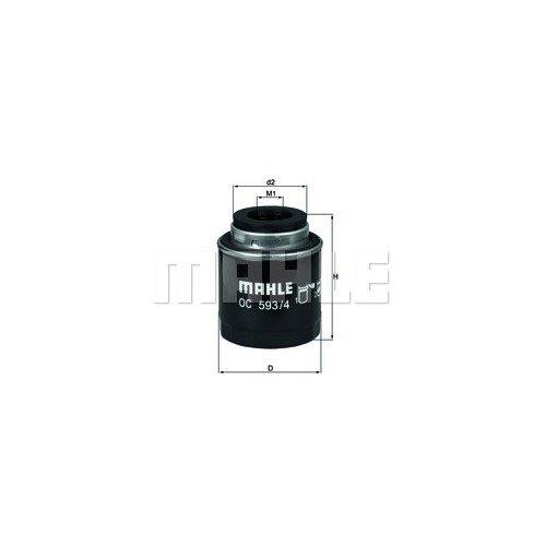 Маслен филтър MAHLE OC 593/4 70388052 за Audi, Skoda, VW, Seat