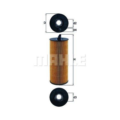 Маслен филтър MAHLE OX361/4D 70354041 за BMW