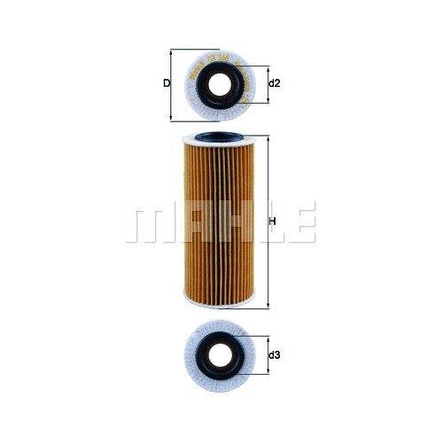 Маслен филтър MAHLE OX 368D1 70317060 за BMW
